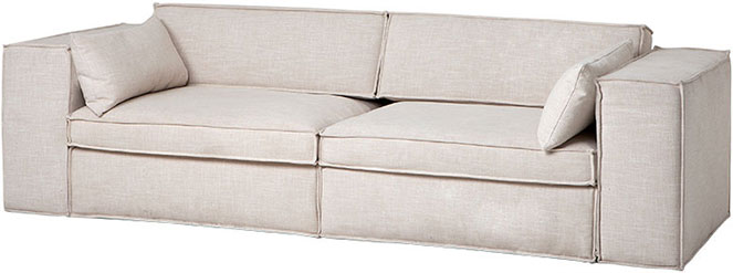 Льняной диван кремового цвета Eichholtz Sofa Richard Burton