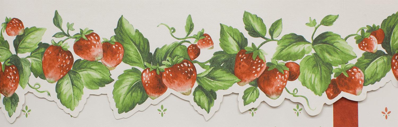 Обои Горшочек со спелой земляникой и ее цветами на рабочий стол   482x1500